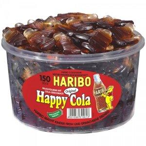 Haribo Happy Cola żelki butelki 5,5cm 150szt 1200g