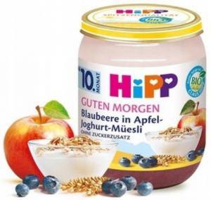 HIPP BIO Zbożowe Śniadanie Musli Jagoda Jogurt 10m