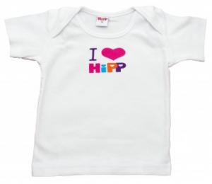 I LOVE HIPP Bawełniana koszulka dla dziewczynki