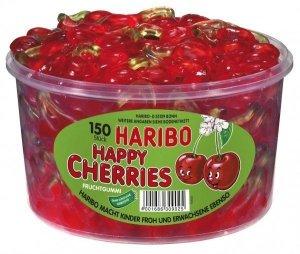 Haribo Żelki Happy Cherries Szczęśliwe Wiśnie 150szt 1200g