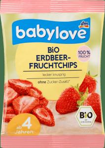 Babylove Bio Liofilizowane Truskawki Chipsy Chrupki  1r