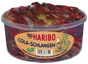 Haribo Żelki Węże Cola Schlagen Wiśnia 150szt Niemcy