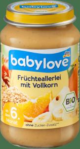 Babylove BIO Zboża Pomarańcze Banany Jabłka 6m 190g