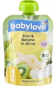 Babylove BIO mus Kiwi Banan Gruszka 1r 90g