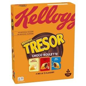 Kellogg's Tresor Choco Roulette poduszeczki 3 smaki 375g