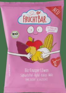 FruchtBar Chrupki Lwy Bataty Jabłko Kokos Kukurydza