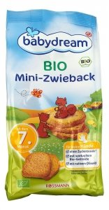 BabyDream Bio Mini Sucharki Pszenne 7m 100g