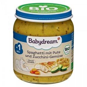 BabyDream Bio Spaghetti Warzywa Indyk 1r 250g