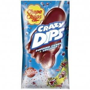 Chupa Chups Crazy Dips Cola Lizak Trzaskający 1 szt 14g