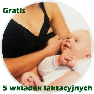 Biustonosz Stanik Ciążowy do Karmienia z Zapięciem 95 D Czarny