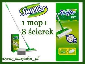 Swiffer Mop + Ściereczki Zestaw Startowy +8 ścierk
