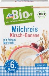 Bio Ryżowa kaszka mleczna z Wiśniowo Bananowa wit. B A D 6m 250g