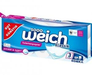 GG Papier toaletowy Miękki Gruby 3 warstwy 10x200
