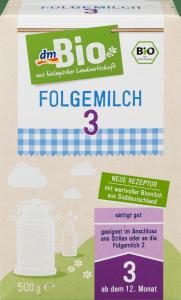 Bio 3 Ekologiczne następne mleko od 12 miesiąca 500g