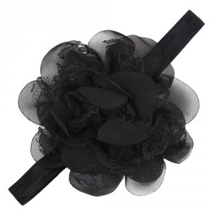 Opaski Kwiatek Duży Chrzest Czarna
