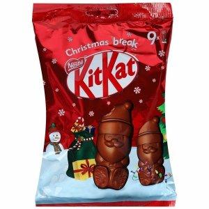 KitKat Czekoladowe Chrupiące Mikołaje na święta 9 szt