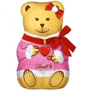 Lindt Czekoladowy Teddy Różowy Kożuszek Kokardka 40g