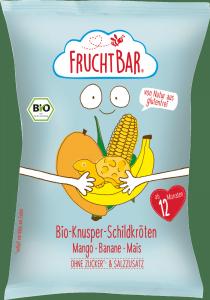 FruchtBar Bio Chrupki Żółwie Mango Banan Kukurydza