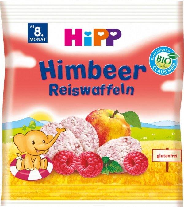 Hipp Bio Wafelki Ryżowe Maliny Jabłko 8m 30g