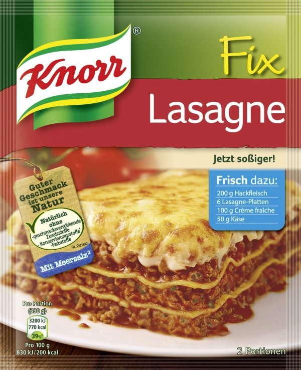 Knorr Fix Lasagne pyszna Lasania włoski przepis