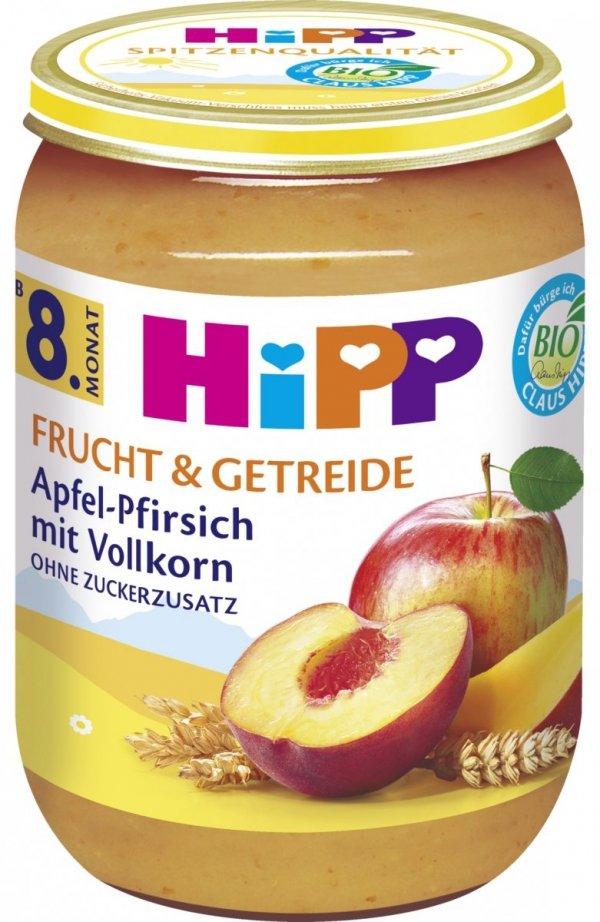 Hipp Bio Deser Jabłko Brzoskwinia Zboża 8m 190g