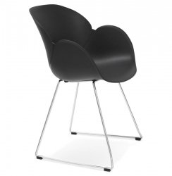 Krzesło Testa białe Kokoon Design czarne