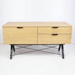 Szafka Sideboard Basic z 2 szufladami i otwieraną szafką