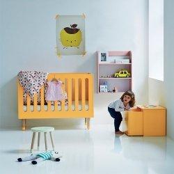 Łóżeczko dziecięce Flexa Play żółte