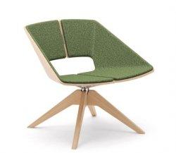 INFINITI drewniane krzesło obrotowe HUG MAXI