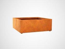 Donica metalowa - Corten BAJO 7 1200x1200x450