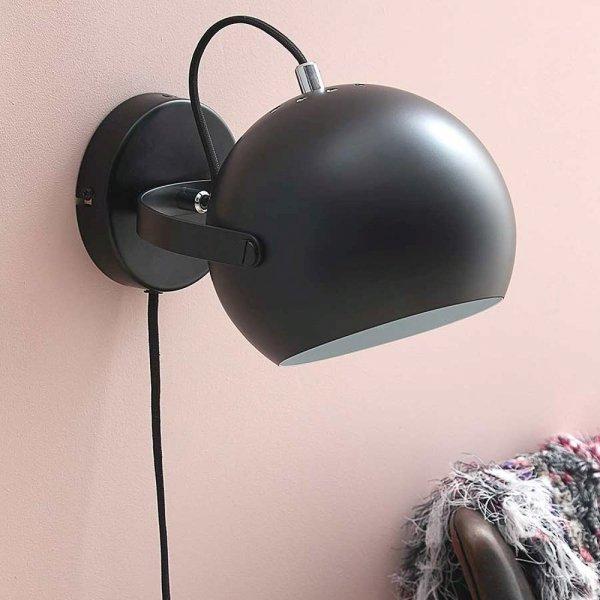 lampa ścienna czarny mat ball wall frandsen