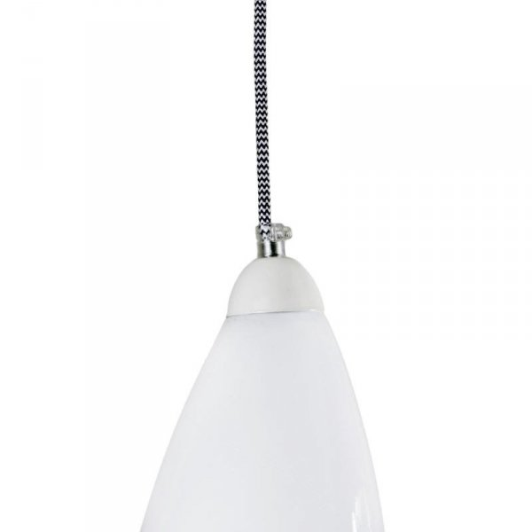 Lampa szklana pastelowa biel Gie El