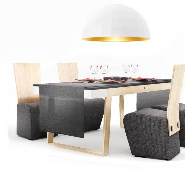 Stół Magh średni doskonale sprawdzi się  w nowoczesnych jadalniach w stylu skandynawskim