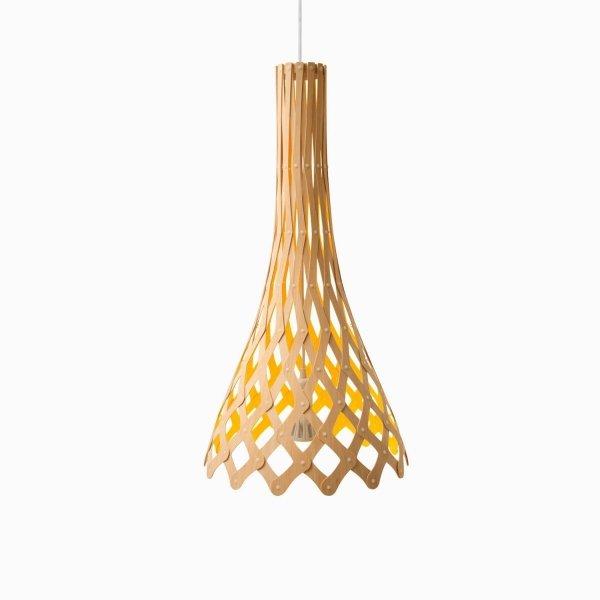 Duża bambusowa lampa wisząca Nikau 82cm