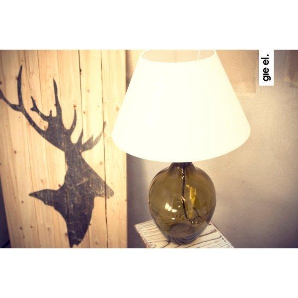 Lampka Stołowa szklana oliwkowa LGH0072 Gie El