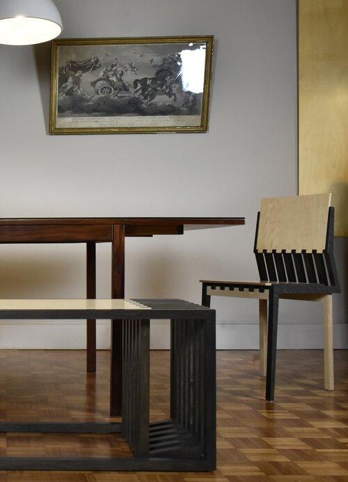 piękne drewniane krzesło Kyst