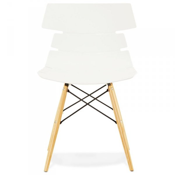 Strata nowoczesne krzesło białe