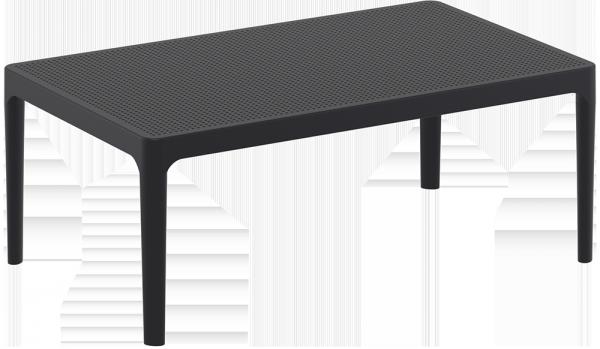 Stolik SKY Lounge Siesta z tworzywa czarny