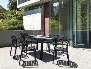 Krzesła Artemis i stół Ares 140 siesta piękny zestaw na taras