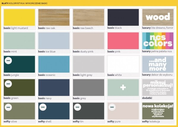MINKO kolory