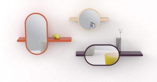 Mirette półka z lustrem pionowa OXYO