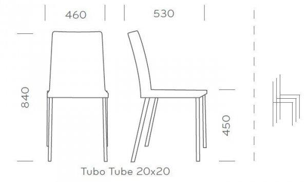 Kuadra 1270 Krzesło Pedrali