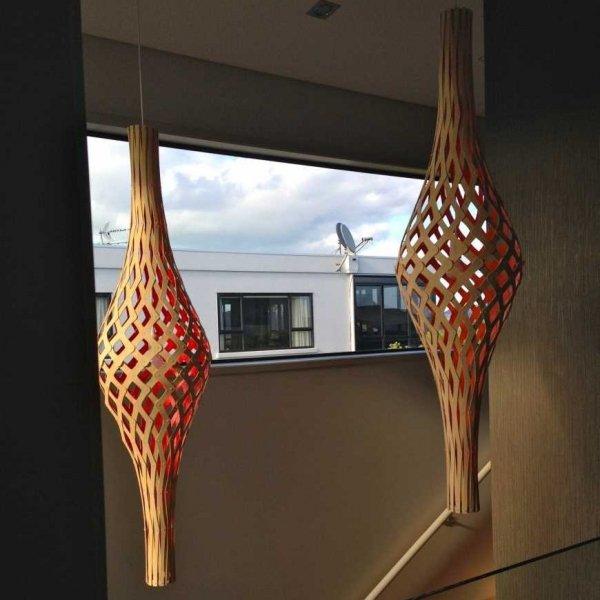 Duża bambusowa lampa wisząca Nikau pełna 160cm