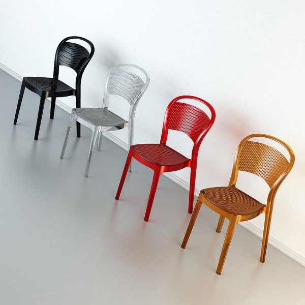 Dostępne w wielu kolorach - transparentnych oraz kryjących, dzięki czemu pasują one do każdego wnętrza.