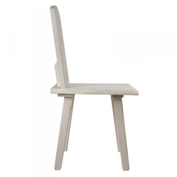 Drewniane krzesło z rozetą Gie El