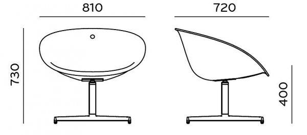 Gliss Lounge 360 Fotel Obrotowy Pedrali