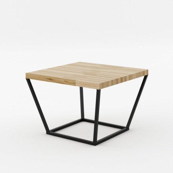 Stolik kawowy kwadratowy NOi z blatem z litego drewna dębowego to idealna propozycja dla wszystkich ceniących światowe trendy wzornicze.