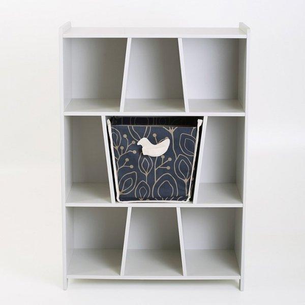 KuKuu Regał na Książki z Koszem na zabawki bardzo mleczny Bird&Berry