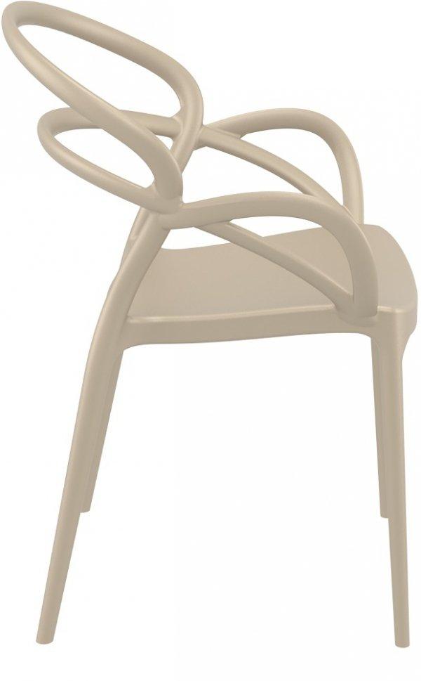 Krzesło Mila Siesta ciemny szary taupe/kawowy