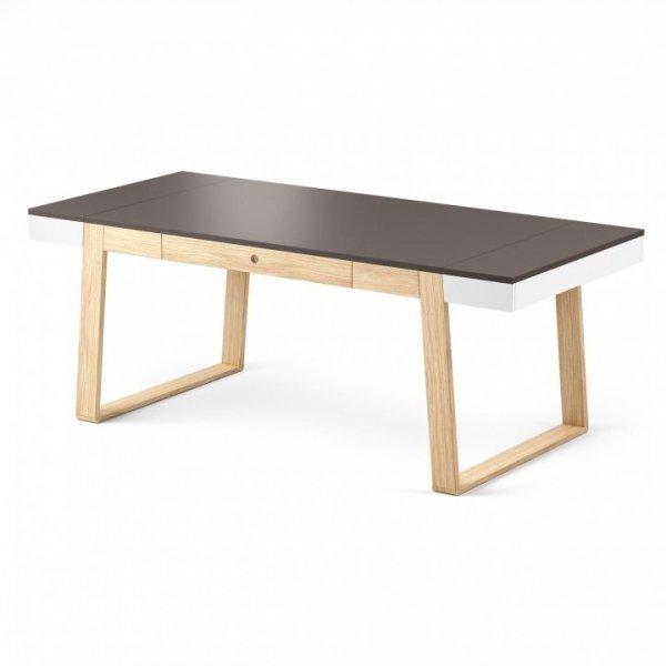 Stół Magh grafitowy, wymiary (w/sz/gł): 75/160/90 cm